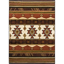 Artist's Loom Indoor Country Abstract Rug - 7'10 x 10'6 - Thumbnail 0