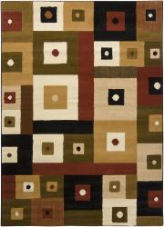 Artist's Loom Indoor Contemporary Geometric Rug (7'10 x 10'6) - Thumbnail 1