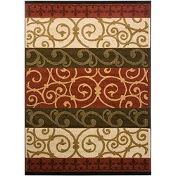 Artist's Loom Indoor Contemporary Stripes Rug (5'3 x 7'2) - Thumbnail 0