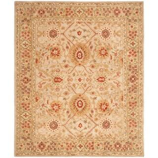 Safavieh Handmade Anatolia Oriental Grey Beige/ Sage Green Hand-spun Wool Rug (9'6 x 13'6)