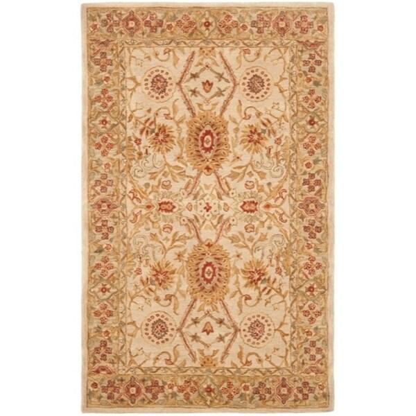 "Safavieh Handmade Anatolia Oriental Grey Beige/ Sage Green Hand-spun Wool Rug - 9'-6"" x 13'-6"""
