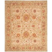 Safavieh Handmade Anatolia Oriental Grey Beige/ Sage Green Hand-spun Wool Rug (6' x 9')