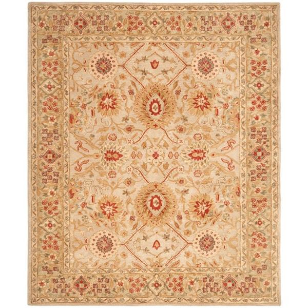 Safavieh Handmade Anatolia Grey Beige/ Sage Wool Rug (6' x 9')