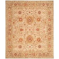 Safavieh Handmade Anatolia Oriental Grey Beige/ Sage Green Hand-spun Wool Rug - 8' x 10'
