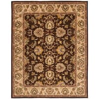 "Safavieh Handmade Heritage Timeless Traditional Brown/ Ivory Wool Rug - 8'3"" x 11'"