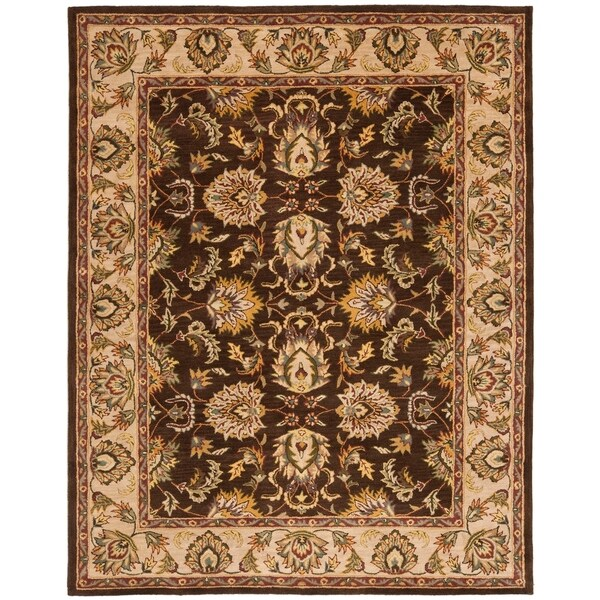 "Safavieh Handmade Heritage Timeless Traditional Brown/ Ivory Wool Rug - 8'3"" x 11'"