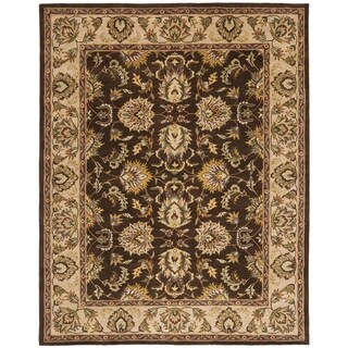 Safavieh Handmade Heritage Timeless Traditional Brown/ Ivory Wool Rug (7'6 x 9'6)
