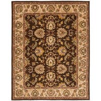 "Safavieh Handmade Heritage Timeless Traditional Brown/ Ivory Wool Rug - 7'6"" x 9'6"""
