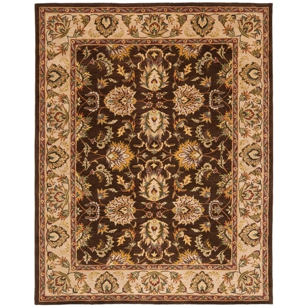 "Safavieh Handmade Heritage Timeless Traditional Brown/ Ivory Wool Rug - 7'-6"" x 9'-6"""