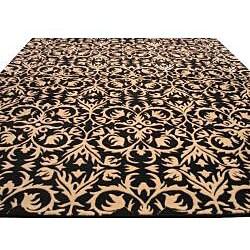 Hand-tufted 'Marla' Black Wool Rug (5' x 8') - Thumbnail 2