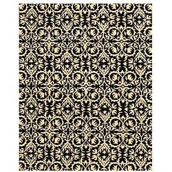 Hand-tufted 'Marla' Black Wool Rug (5' x 8') - Thumbnail 0