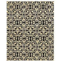 Hand-tufted 'Marla' Black Wool Rug (5' x 8') - 5' x 8'