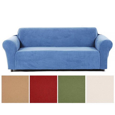 Classic Slipcovers Snowball Cotton/Spandex Stretch Sofa Slipcover