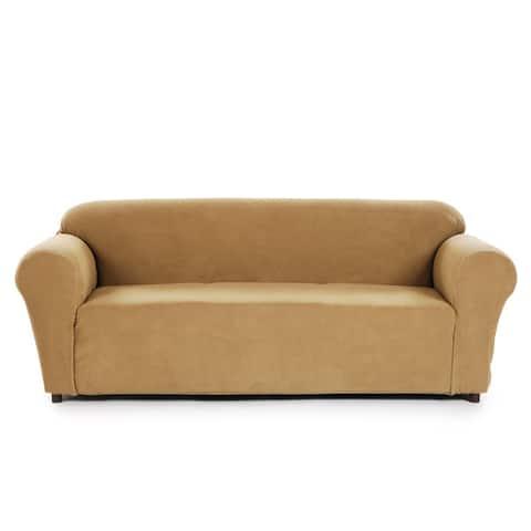 Classic Slipcovers Snowball Stretch Sofa Slipcover