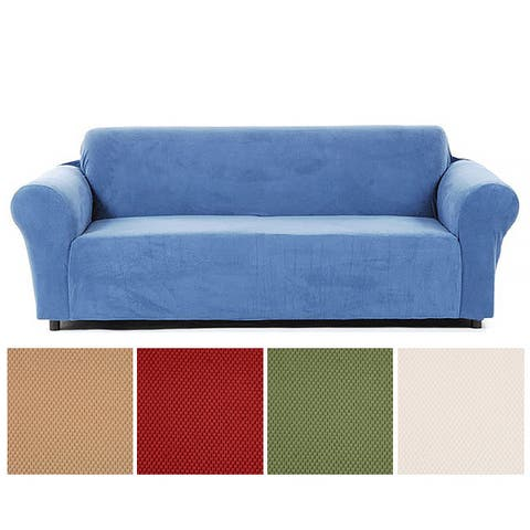 Classic Slipcovers Snowball Stretch Loveseat Slipcover
