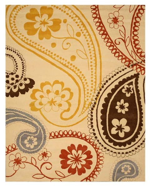"""Hand-tufted 'Peter' Ivory Oriental Wool Rug (7'9 x 9'9) - 8' x 10"""""""