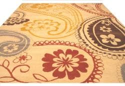 Hand-tufted 'Peter' Ivory Oriental Wool Rug (7'9 x 9'9) - Thumbnail 2