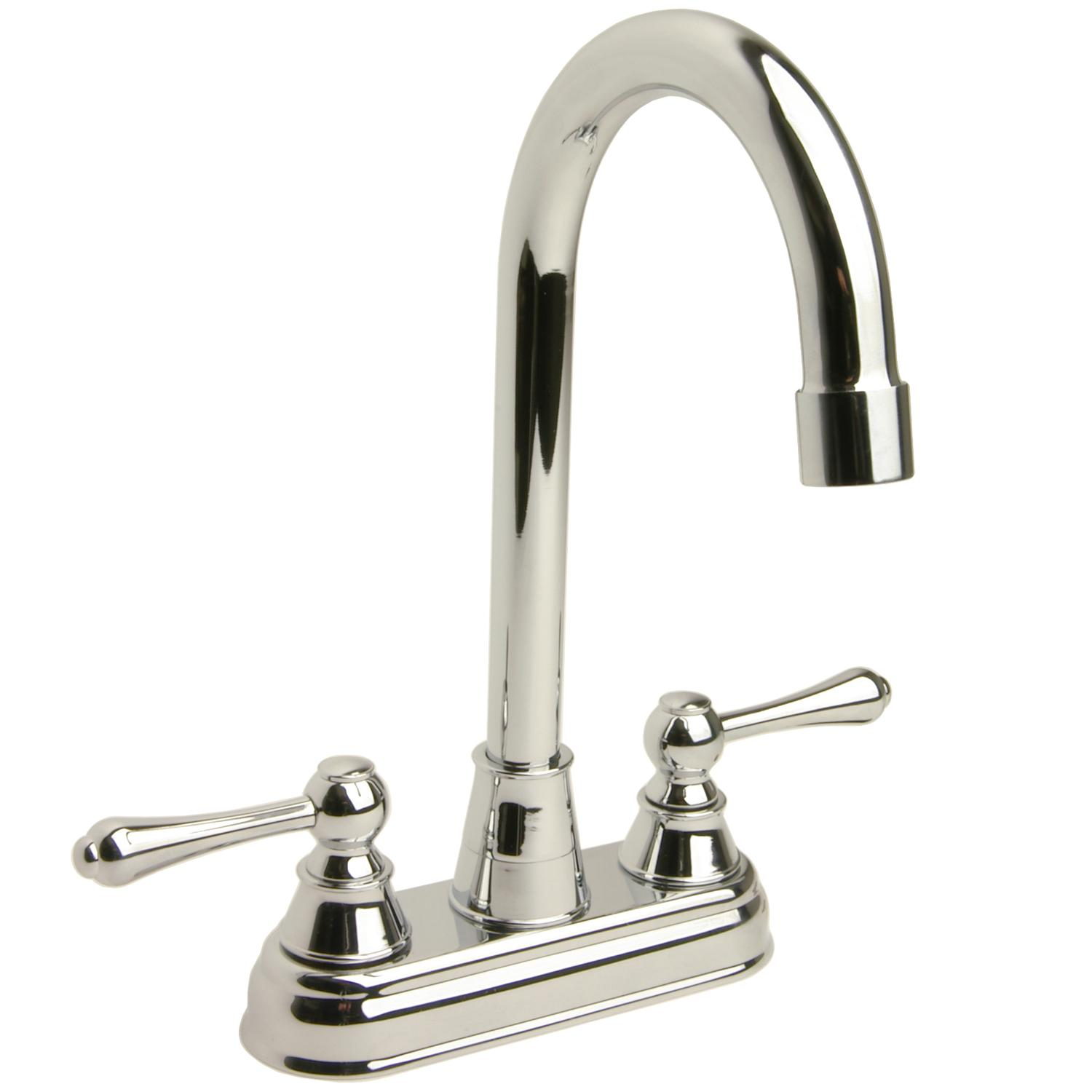 High-arc Polished Chrome Bar Faucet - Thumbnail 0