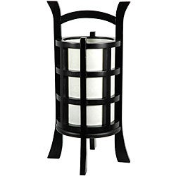 Handmade Mahogany Wood 18-inch Kharbarosk Lamp (China)
