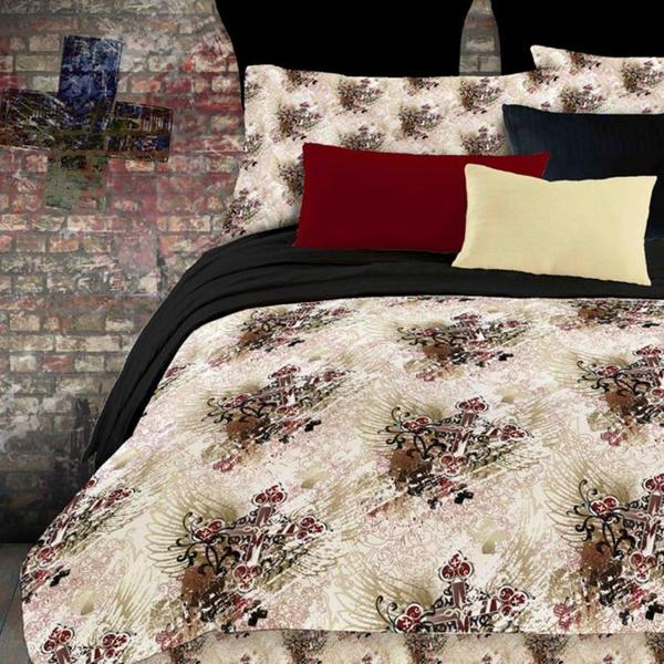 Street Revival Winged Cross Twin-size Bed in a Bag with Sheet Set