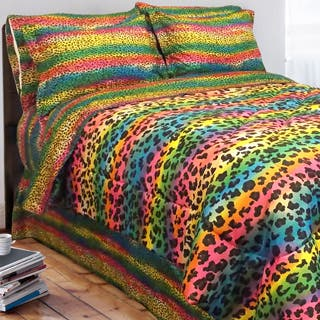 Street Revival Rainbow Leopard Twin-size 6-Piece Bed in a Bag with Sheet Set|https://ak1.ostkcdn.com/images/products/5318318/Street-Revival-Rainbow-Leopard-Twin-size-6-Piece-Bed-in-a-Bag-with-Sheet-Set-P13125594L.jpg?impolicy=medium