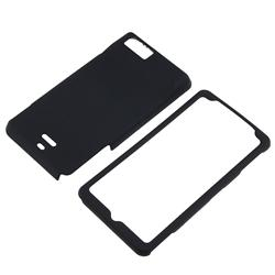INSTEN Black Rubber-Coated Plastic Phone Case Cover for Motorola Droid Xtreme MB810/ Droid X2 Daytona - Thumbnail 1