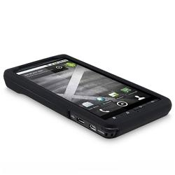 INSTEN Black Rubber-Coated Plastic Phone Case Cover for Motorola Droid Xtreme MB810/ Droid X2 Daytona - Thumbnail 2
