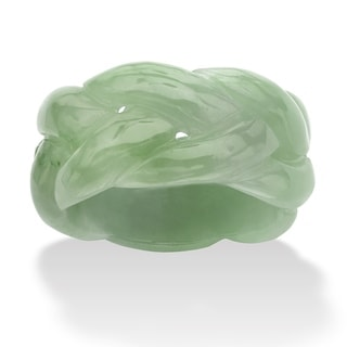PalmBeach Green Jade Braided Ring Naturalist