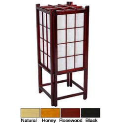 Wooden 18-inch Window Pane Shoji Lamp (China)
