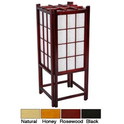 Handmade Wooden 18-inch Window Pane Shoji Lamp (China)