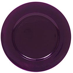 ChargeIt! By Jay Purple Round Chargers (Pack of 8)