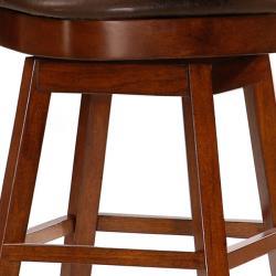 Landon 24-inch Wheat-back Cherry Wood Counter-height Stool - Thumbnail 2