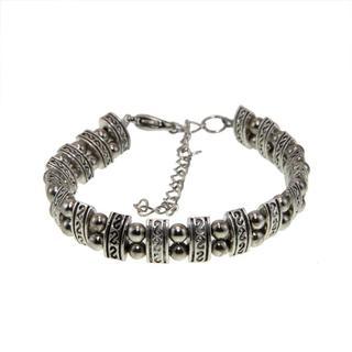 Handmade Tibet Silver Tibetan-style Bracelet (China)