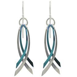 Journee Sterling Silver Niobium Dangle Earrings