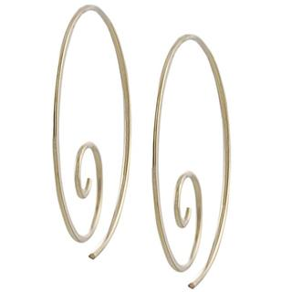 Journee Gold-fill and Sterling Silver Spiral Hoop Earrings