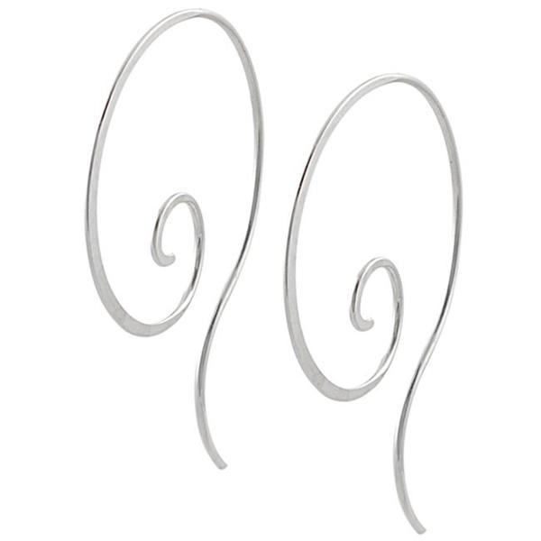 Journee Collection Sterling Silver Spiral Hoop Earrings