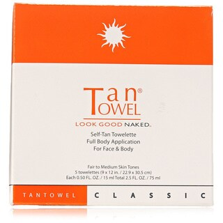 TanTowel Full Body Self-tanning 5-count Towelettes