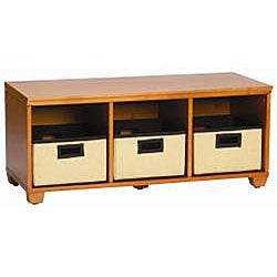 VP Home I-Cubes Storage Bench with Black Baskets - Thumbnail 2
