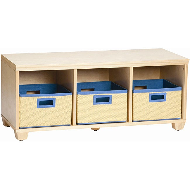 VP Home I-Cubes Storage Bench with Blue Baskets