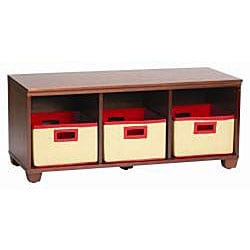 VP Home I-Cubes Storage Bench with Three Red Baskets