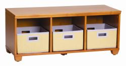 VP Home I-Cubes Purple Basket Storage Bench