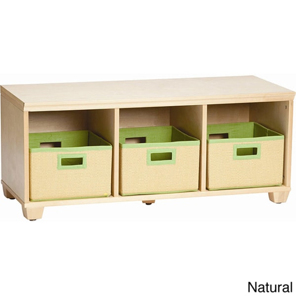 VP Home I-Cubes Lime Basket Storage Bench