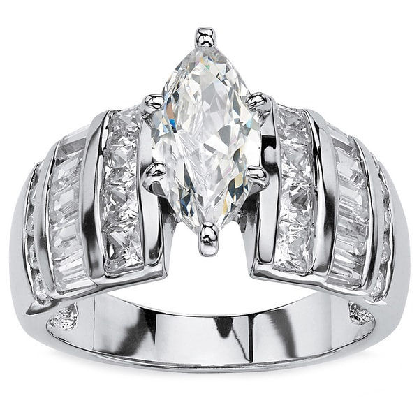 Marquise-Cut Cubic Zirconia Engagement Ring Glam CZ