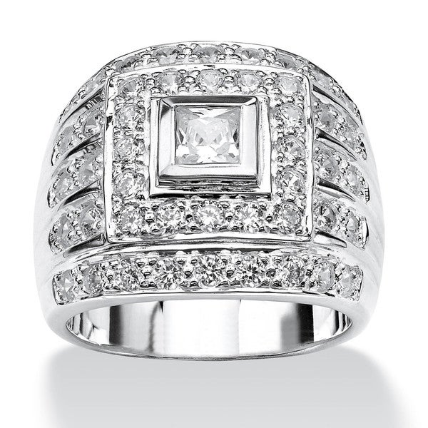 Shop Men's 2 89 TCW Square-Cut Cubic Zirconia Ring in  925 Sterling