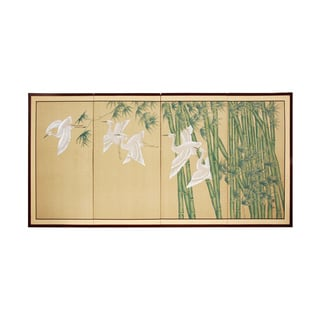 36-inch 'Bamboo Escape' Framed Silk Screen (China)