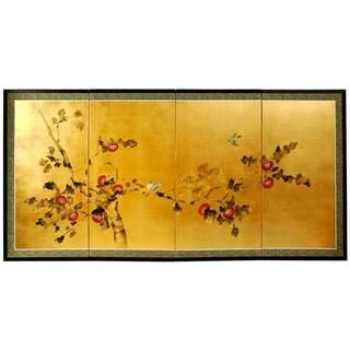 "Handmade 36"" Silk and Wood Cherry Blossom Wall Hanging"