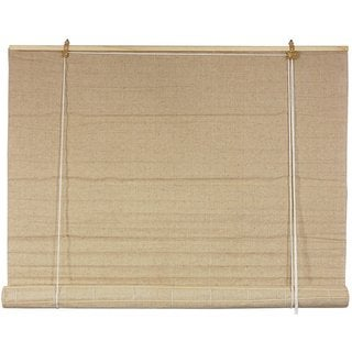 Handmade Jute Fiber 48-inch Bianco Roll-up Blinds (China)