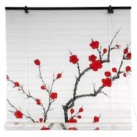 Handmade Rice Paper 36-inch Cherry Blossom Shoji Blinds (China)