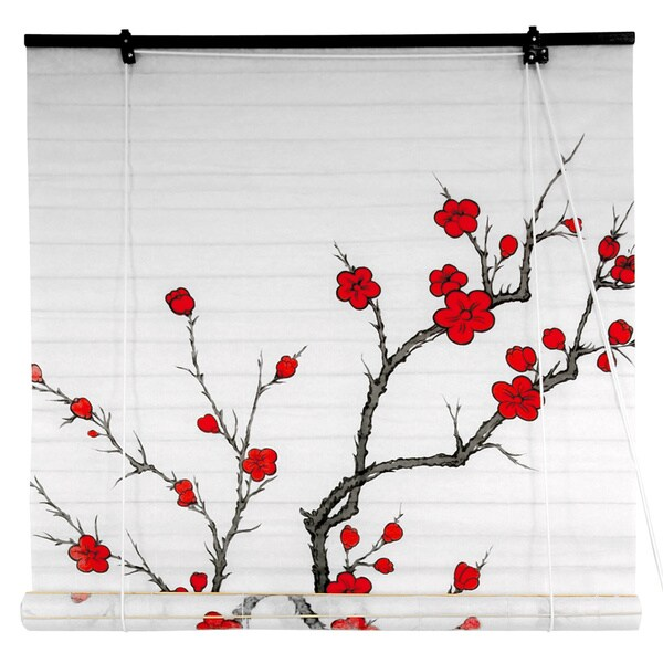 Rice Paper 36-inch Cherry Blossom Shoji Blinds (China)