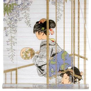 Handmade Rice Paper and Bamboo 36-inch Geisha Shoji Blinds (China)